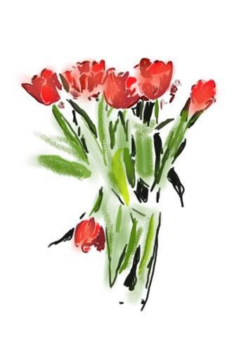 iPad tulips i