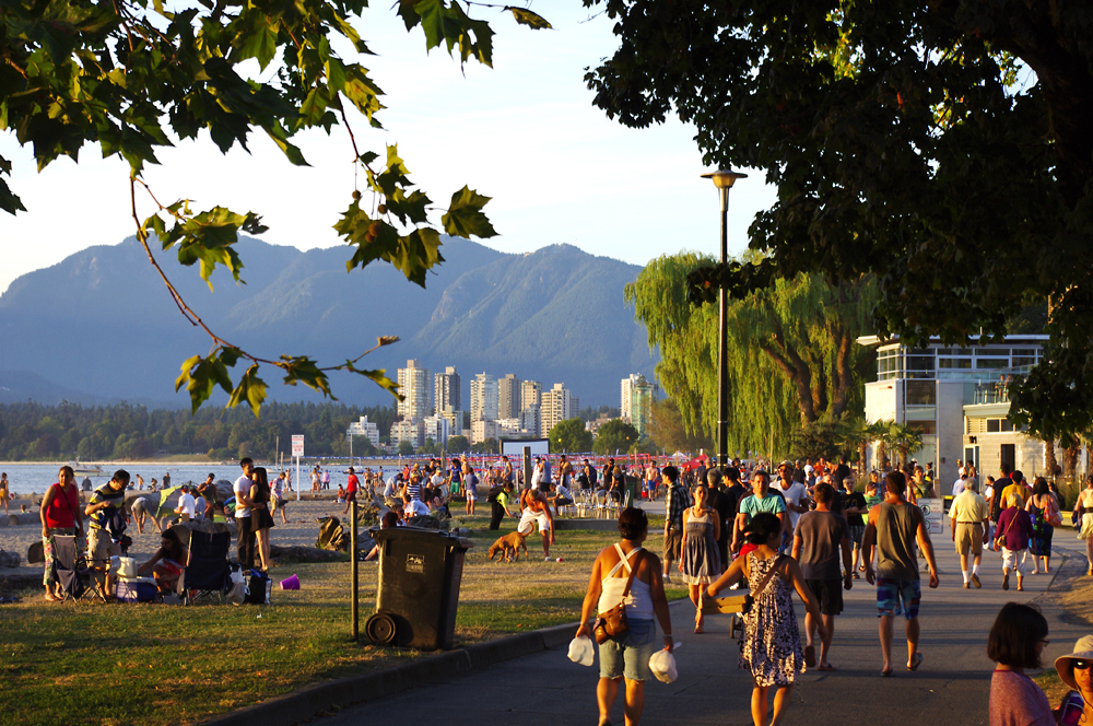 Kits beach strolling