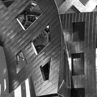 The Cleveland Clinic Lou Ruvo Center for Brain Health in Las Vegas, designed by Frank Gehry